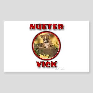 NUETER VICK Rectangle Sticker