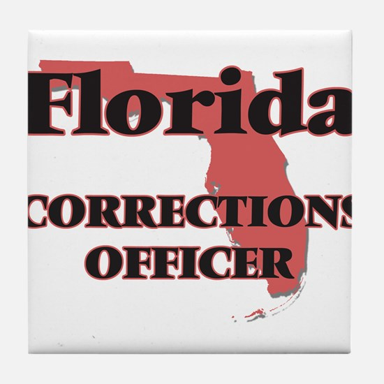 Florida Corrections Officer Tile Coaster