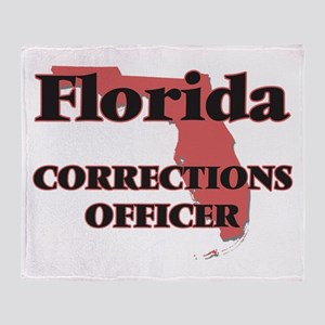 Florida Corrections Officer Throw Blanket