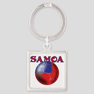 Samoa Football Keychains