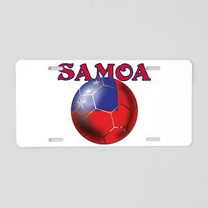 Samoa Football Aluminum License Plate