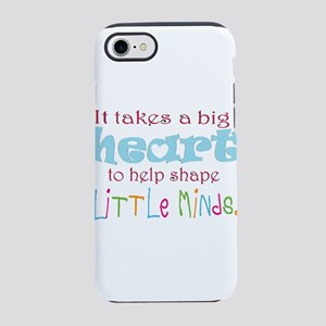 big heart: teacher, iPhone 8/7 Tough Case