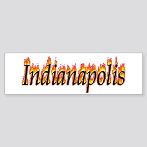 Indianapolis Flame Bumper Sticker