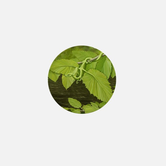 green leaf dragon Mini Button