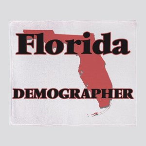 Florida Demographer Throw Blanket