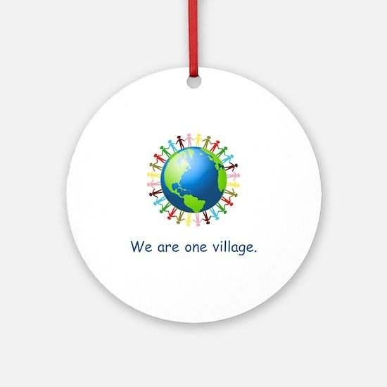 Rainbow Unity Globe Gifts Round Ornament