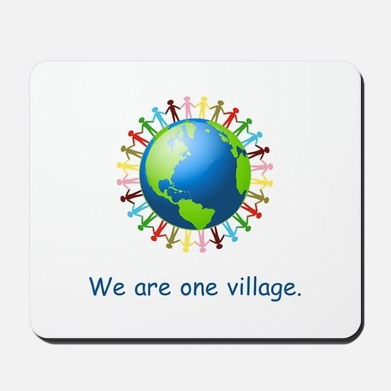 Rainbow Unity Globe Gifts Mousepad