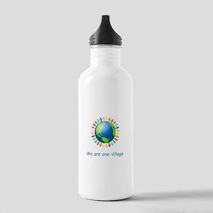 Rainbow Unity Globe Gifts Water Bottle
