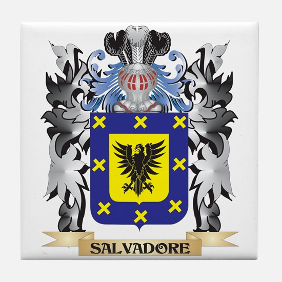 Salvadore Coat of Arms - Family Crest Tile Coaster