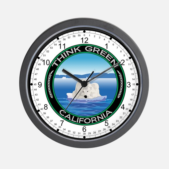 Environmental Polar Bear California Wall Clock