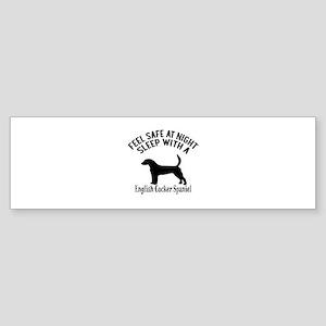 Sleep With English Cocker Spaniel Sticker (Bumper)