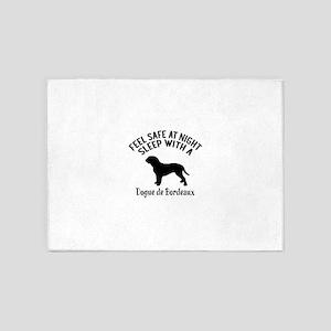 Sleep With Dogue de Bordeaux Dog De 5'x7'Area Rug