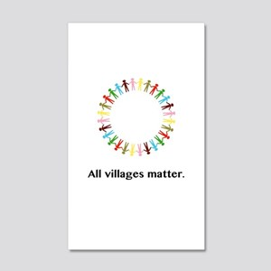 All Villages Matter Unity Circle Gifts Wall Decal