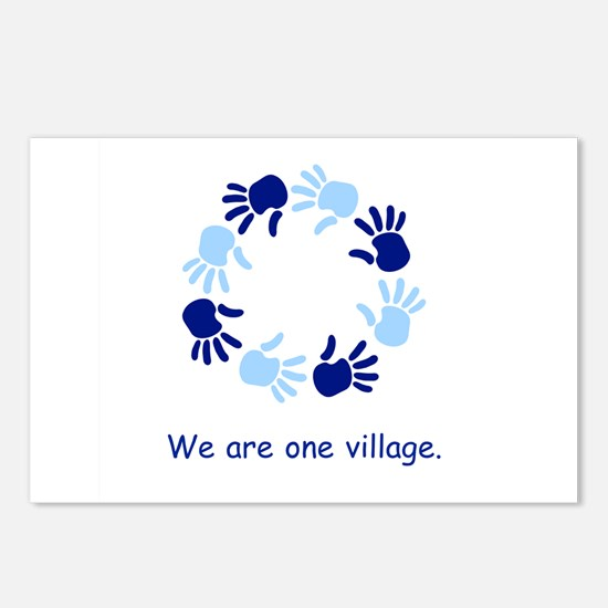 One Village Unity Hands Gifts Postcards (Package o
