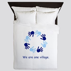 One Village Unity Hands Gifts Queen Duvet