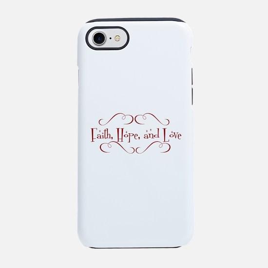 faith, hope, love iPhone 8/7 Tough Case