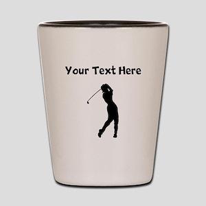 Golf Swing Shot Glass