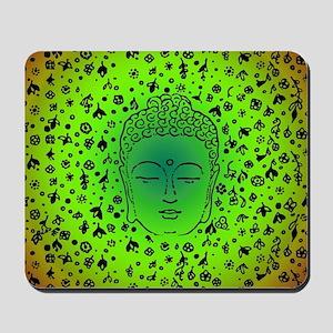 Buddha Green by designeffects Mousepad