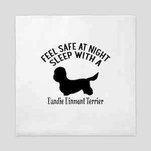 Sleep With Dandie Dinmont Terrier Dog Queen Duvet