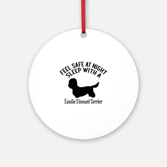 Sleep With Dandie Dinmont Terrier D Round Ornament