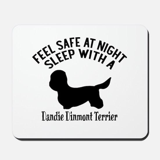 Sleep With Dandie Dinmont Terrier Dog De Mousepad
