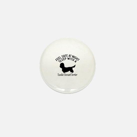 Sleep With Dandie Dinmont Terrier Dog Mini Button