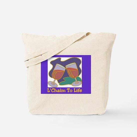 L'Chaim Jewish New Years Tote Bag