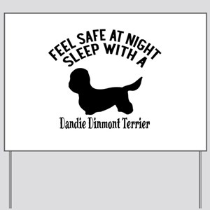 Sleep With Dandie Dinmont Terrier Dog De Yard Sign