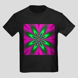 Green Flower on Pink by designeffects T-Shirt