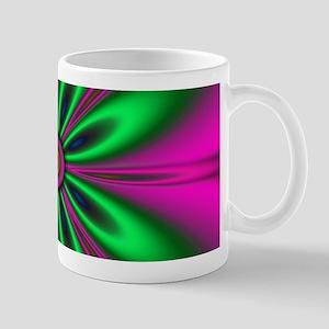 Green Flower on Pink by designeffects Mugs