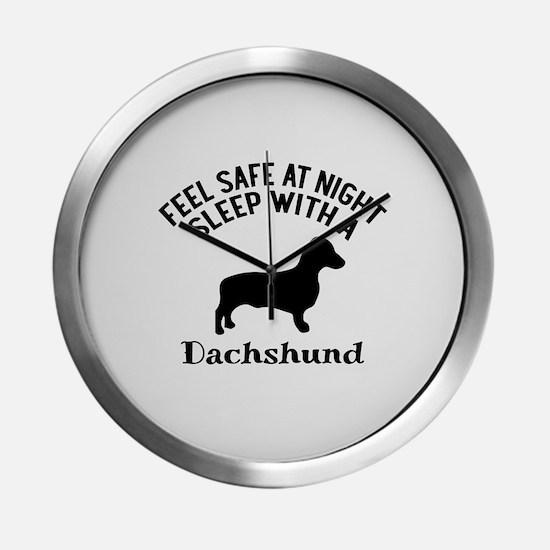 Sleep With Dachshund Dog Designs Modern Wall Clock