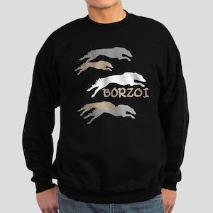 Many Borzois Running Sweatshirt (dark)