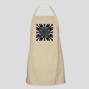 BW Flower Black and White Apron