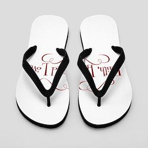 faith, hope, love Flip Flops