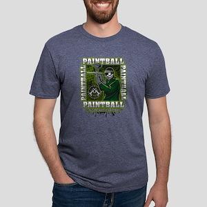 Paintball Player Green Team Mens Tri-blend T-Shirt