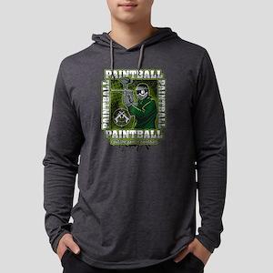 Paintball Player Green Team Mens Hooded Shirt