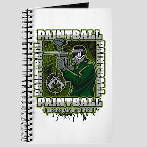 Paintball Player Green Team Journal