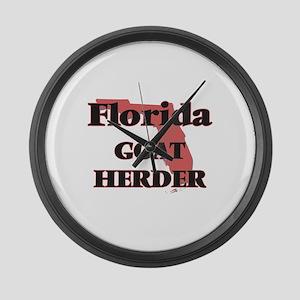 Florida Goat Herder Large Wall Clock