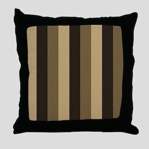 Brown, Tan Stripes Striped Throw Pillow