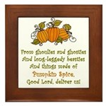 Pumpkin Spice Framed Tile