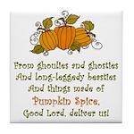 Pumpkin Spice Tile Coaster