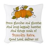Pumpkin Spice Woven Throw Pillow