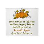 Pumpkin Spice Throw Blanket
