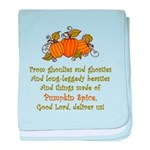 Pumpkin Spice baby blanket