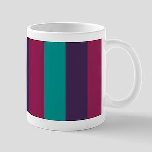 Striped, stripes, purple, cyan blue, pink Mugs