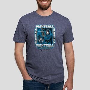 Paintball Player Blue Team Mens Tri-blend T-Shirt