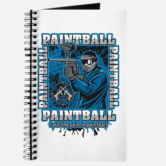 Paintball Player Blue Team Journal