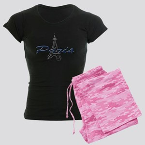 Effiel Tower Women's Dark Pajamas
