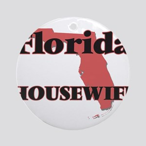 Florida Housewife Round Ornament