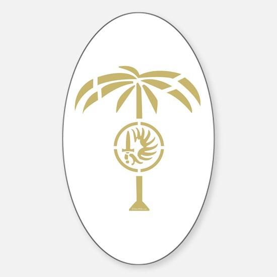 Cute Palm desert Sticker (Oval)